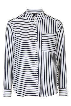 Simple Mix Stripe Blouse
