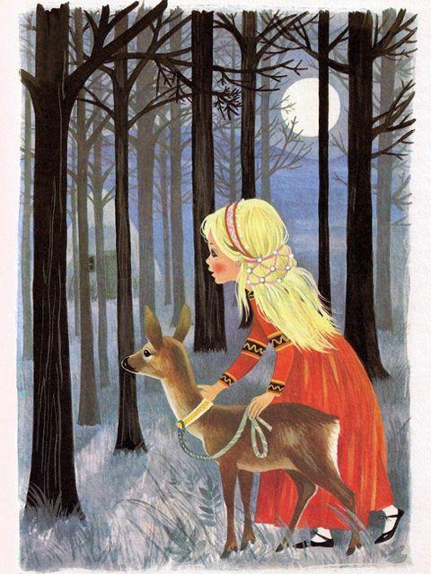 Russian Folktale - Sister Alyonushka and brother Ivanushka.  Illustrators - Felicitas Kuhn