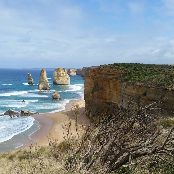 """""""Exploring my aussie backyard and for just a short time the sun came out from behind the clouds to enjoy the #12apostles in all their glory :)"""" 