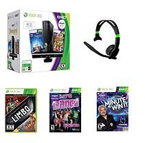 Xbox 360 4 Gb Kinect System with 4 Games & Headset