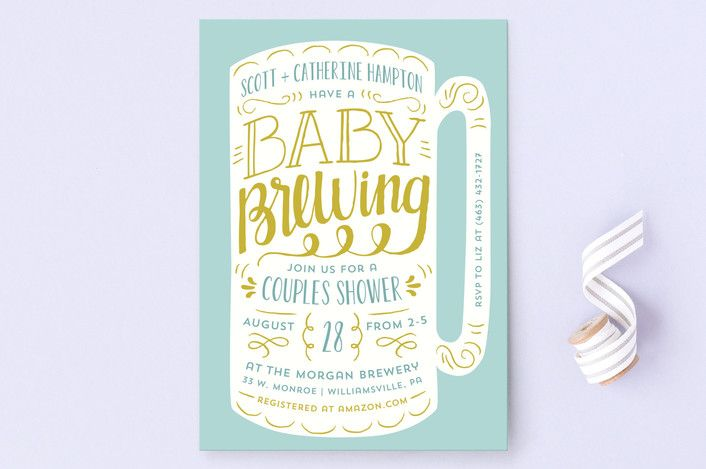 """Baby Brewing Baby Shower Invitations by Laura Hank... 