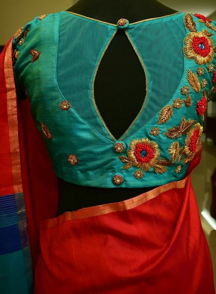 Different colours but blouse design