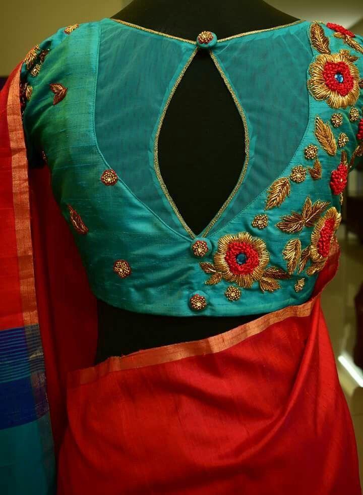 Different colours but blouse design