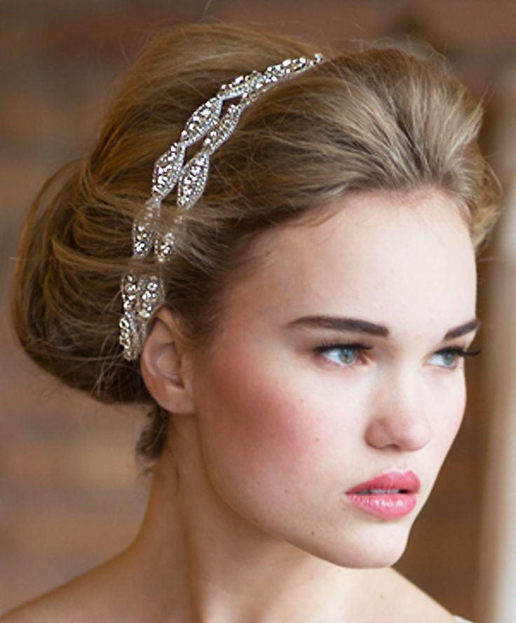 Image of Two Strand Hanne Crystal Double Headband www.kirstenkuehn.com