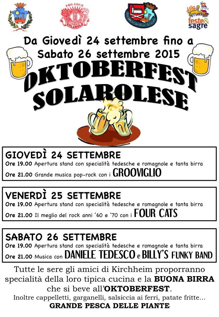 Oktoberfest a Solarolo  http://www.sagreromagnole.it/oktoberfest-solarolo-2015/