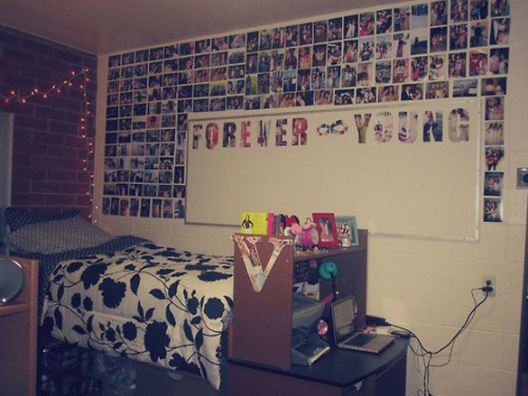 Sweet dorm room decorating how to make unique dorm room for Bedroom wall designs tumblr