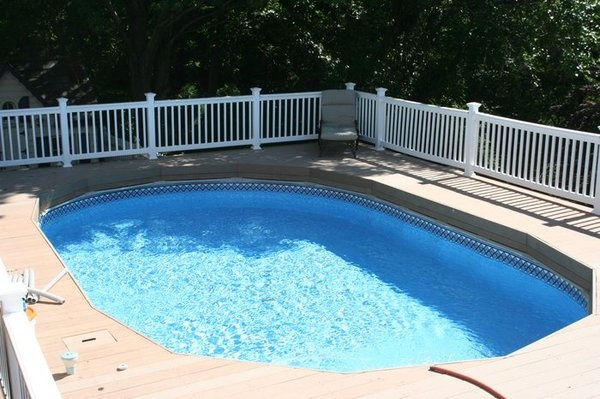 138 best images about pool ideas on pinterest decks for Above ground pool vinyl decks
