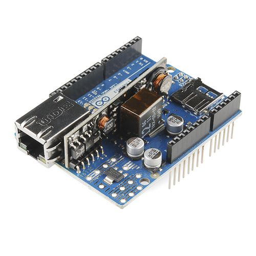 Arduino Ethernet Shield with PoE Module