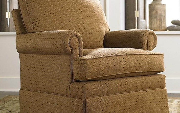 Elegant Brown Slipcover Living Room Accent Chair Design Idea Plus Floral Pattern Area Rug With Creative Greenery Pot Adorable Room Idea for Any Living Room Using Well-Designed Cadence Chairs Living Room