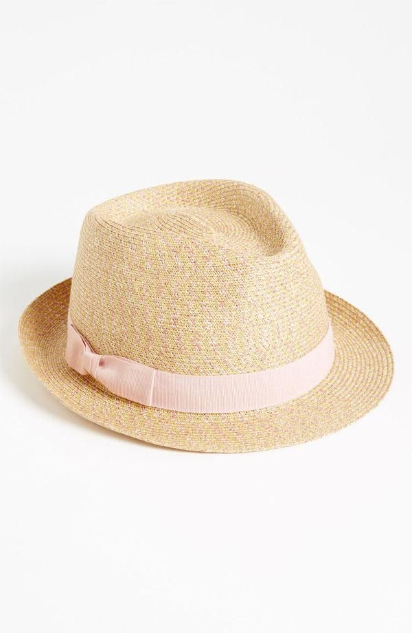 An adorable straw fedora--perfect for a day out on the golf course!