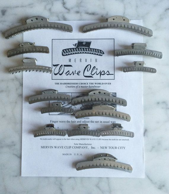 Vintage 1920s Flapper Wave Clips w instructions by RumbleSeatCat