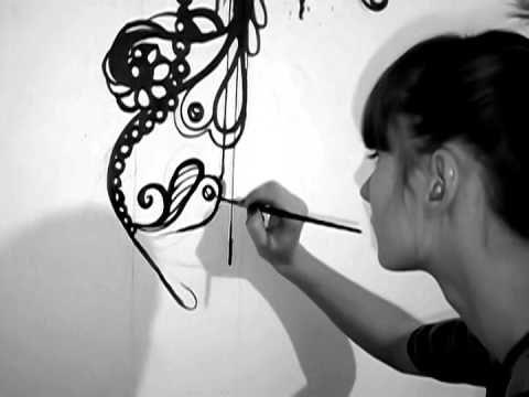 Графический рисунок на стене от artJUS - Роспись стен - Видео на сайте Omis & Co - Omis & Co SIA, Rīga. Apdares materiālu ražošana