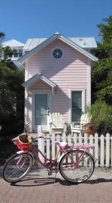 Pink house & bike
