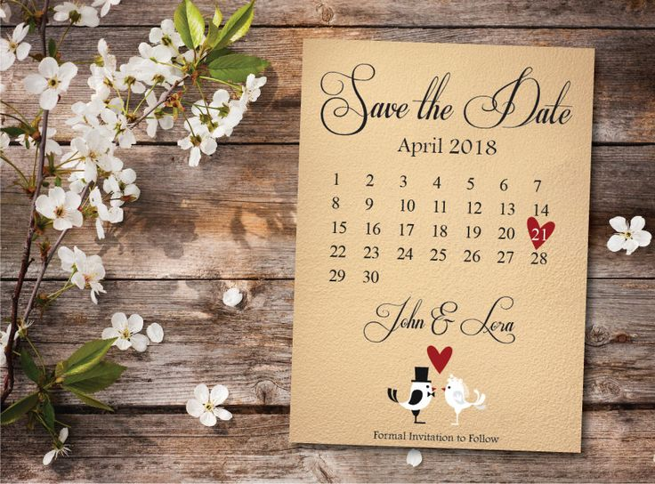 Best Save The Date Announcement Images On Pinterest - Save the date calendar template
