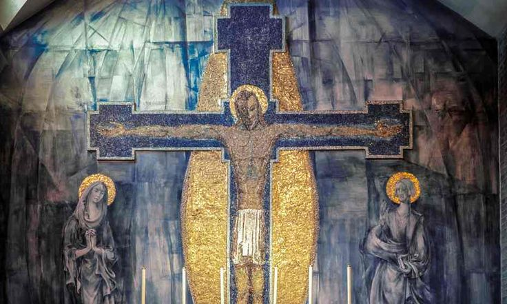 The crucifixion mosaic was installed in Holy Rosary church in the 50s but may be lost if demolition goes ahead.