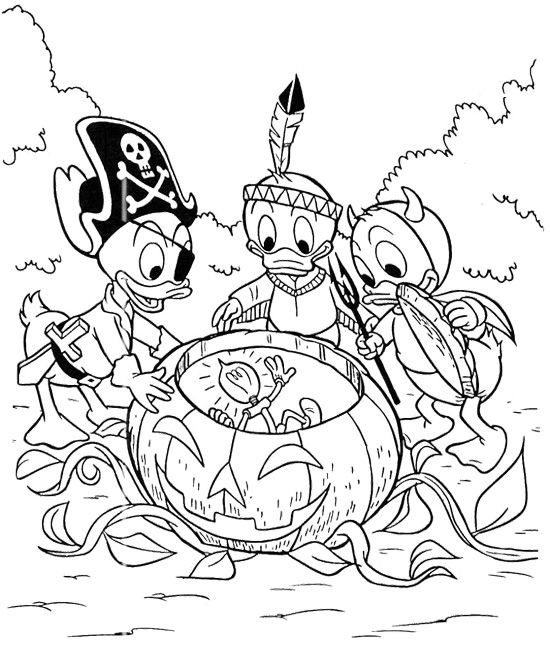 Donald Daisy Babies Coloring Page