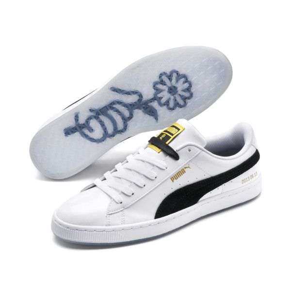 Image 2 of PUMA x BTS Basket Patent Sneakers, Puma White