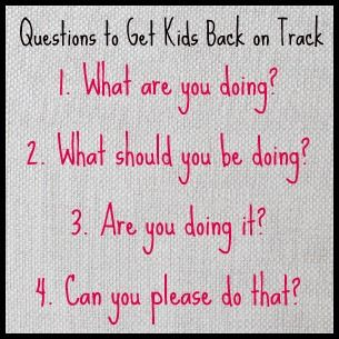 4 Behavior Management Questions Idea-print on cardstock (index card size or smaller) then laminate. Place on student desk as you walk by monitoring the class. No need to speak. Give the student a chance to self correct the behavior.