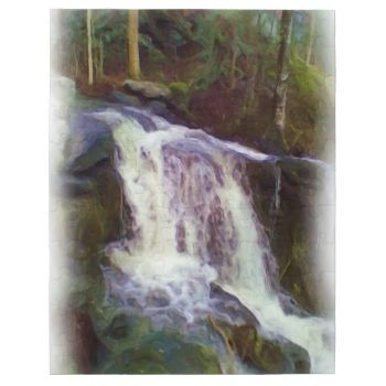 A photo of a small stream with the forest in background with oil paint effect on it. #stream #water-stream #forest #water #oil-paint #nice-art #modern-art oil-paint-art