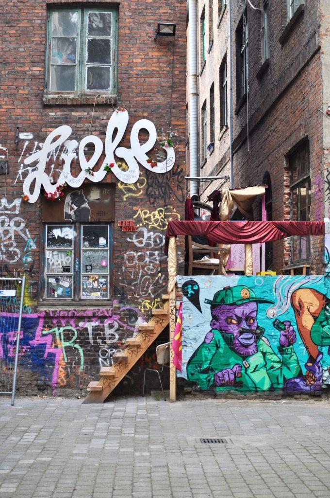 Hamburgo, Neustadt: Gängeviertel com o Café Nasch   – Hamburg meine Perle