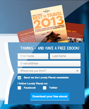 Grab your free copy of the Lonely Planets Best in Travel 2013!