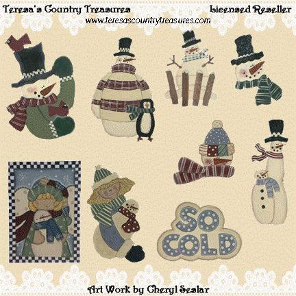 #Handpainted #Snowman Collection #Clipart