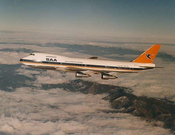 Vintage SAA Boeing 747