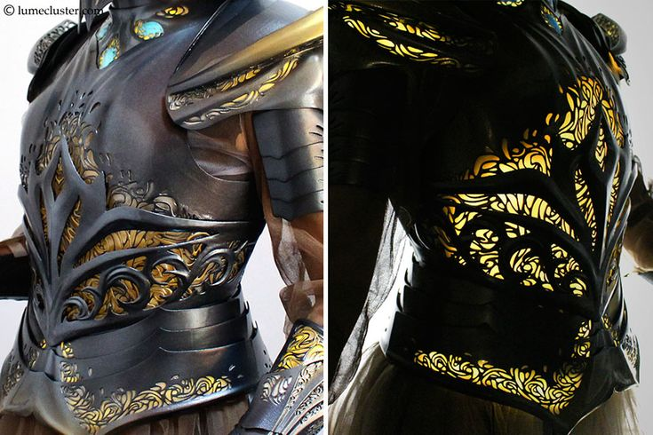 I Spent 518 Hours Making This Futuristic Medieval Armor That Is Lit From Inside And Flexible   Bored Panda
