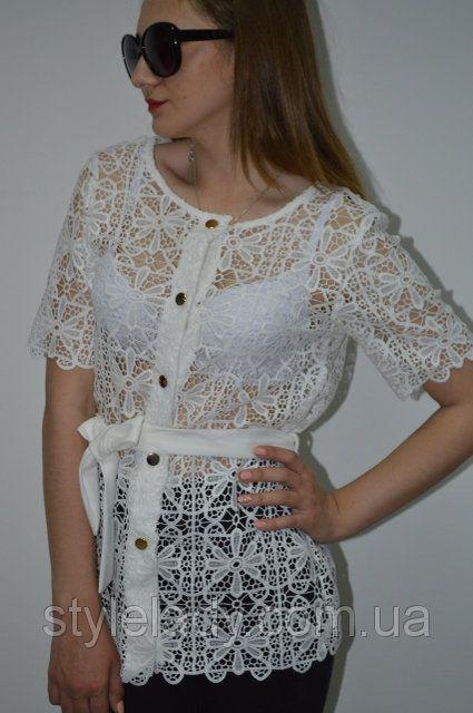 Элегантная женская #блуза c ажурного кружева https://stylelady.com.ua/p547566492-zhenskaya-bluza-setka.html