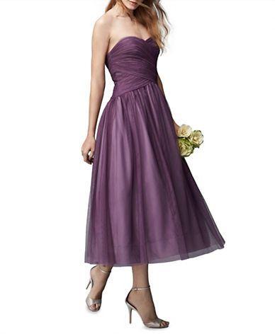 Monique Lhuillier Ballet Length Strapless Dress $99