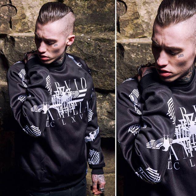 """Corvid Fam"" Raglan Sweatshirt Available at www.crmc-clothing.co.uk | WE SHIP WORLDWIDE Models - @ryan_davieshall Photography - @adrianianmcnab  USE DISCOUNT CODE - HOHOHO - FOR A FURTHER 20% OFF YOUR FULL ORDER. FREE BEANIE WITH ALL ORDERS OVER £60  #darkwear #sweatshirt #blackwear #dclxvi #sixsixsix #altfashion #alternative #instafashion #fashionstatement #fashiongram #fashionista #instastyle #stylegram #sweater #menwithtattoos #winter #winterfashion #styles #style #alternativeguy"