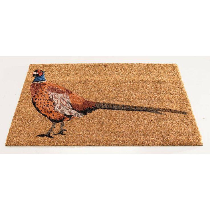 pheasant bird coir doormat by garden selections | notonthehighstreet.com