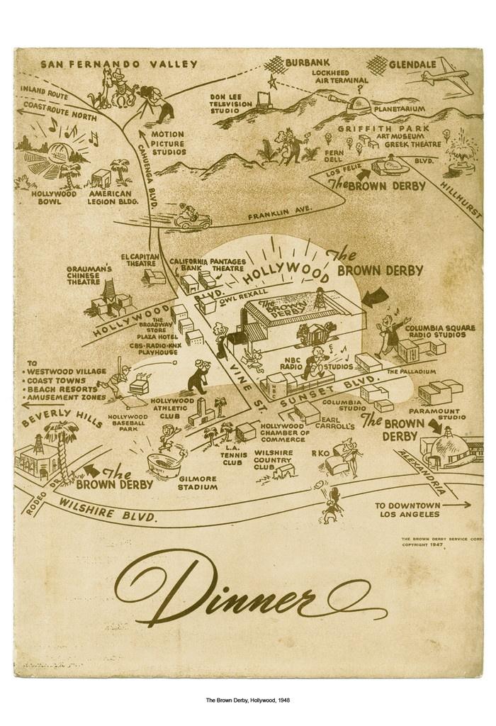 Cool Culinaria Vintage Menu The Brown Derby Hollywood 1948 | Cool Culinaria USA