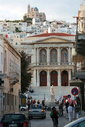 Ermoupolis, Syros- awesome, been there before & we walked to the church at the top of the hill