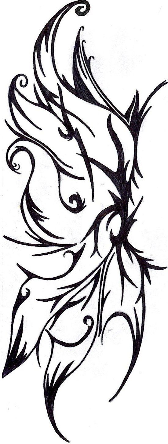 gothic fairy wing tattoo