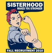 Phi Sigma Sigma sisterhood makes you stronger! Great idea for recruitment!