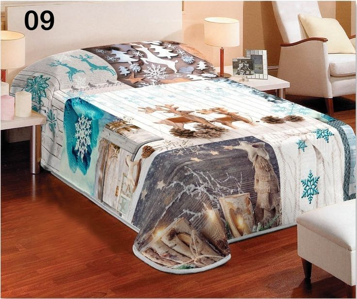 Biela deka na gauč v zimnom štýle