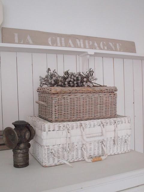 Lovely vintage wicker baskets