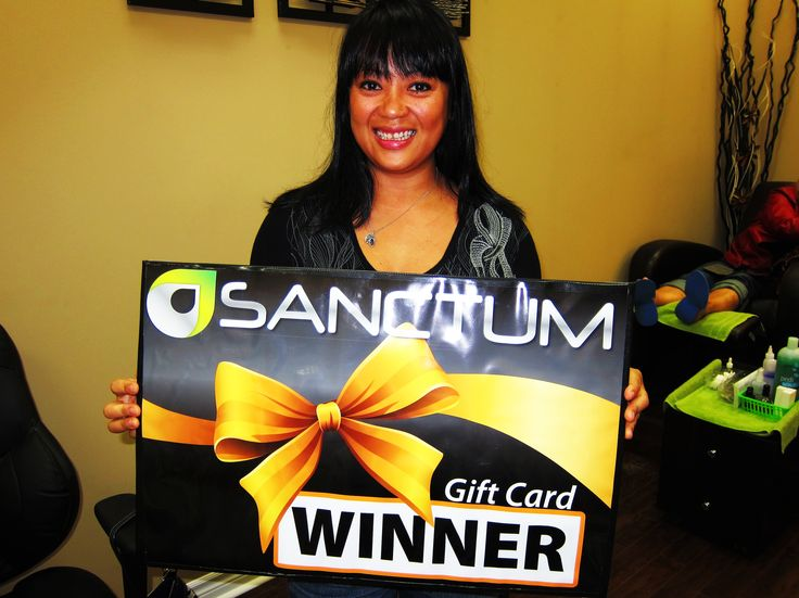 Congratulations Ella D Caceres - the winner of #NailsON contest. Thank you for having a complementary Manicure with our team at Sanctum Salon & Spa! LIKE our pages to participate in the next contests coming soon!