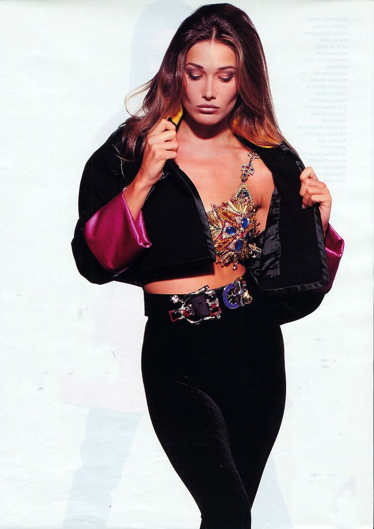 Carla Bruni in Versace circa early 90s