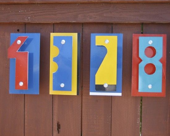 House Number Design Ideas: Unique House Numbers Design, Pictures, Remodel, Decor And