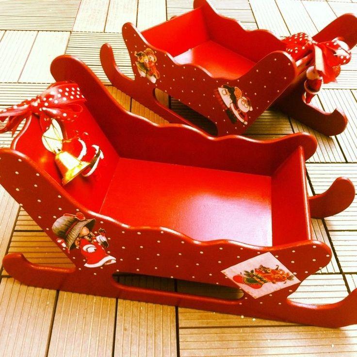 El işi boyama Yeniyıl Noel Baba Kızak Ahşap Kutu | Bebek | ||| 3AAA Bebek şekeri ve Nikah şekeri toptan malzemeleri Eminönü |||