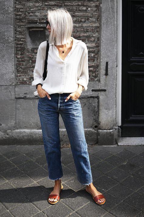 15 ways to wear frayed hem jeans