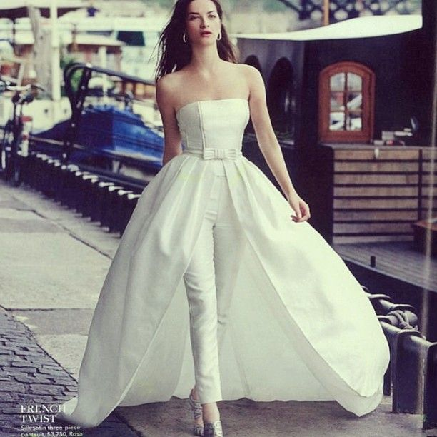 20 Most Perfect Bridal Gowns This Year: Brides Withs Pants? Yes I Do! Rosa Clara Wedding Gown