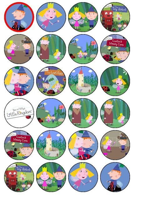 ben and holly cut outs