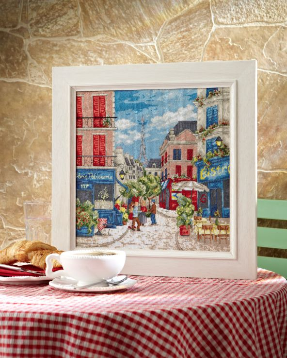 This gorgeous Parisian street scene by Maria Diaz was our chart of the month in the June 236 issue. Find it at http://www.myfavouritemagazines.co.uk/stitch-craft/cross-stitch-collection-magazine-back-issues/