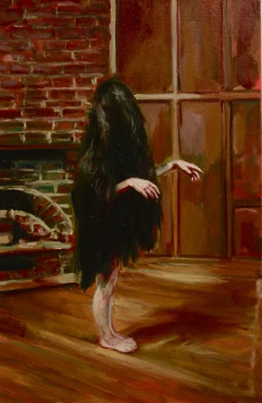 """Harriet dear"" oilpainting by Yvette Coppersmith"