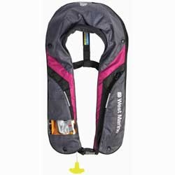 Women 39 s coastal automatic inflatable life jacket for Bass fishing life jacket