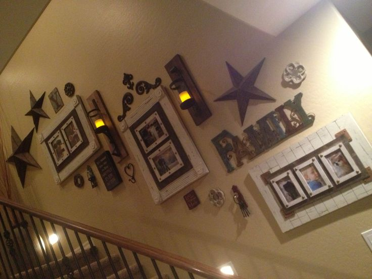Staircase decor idea -something like this...