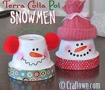 Terra Cotta Pot Christmas Crafts--Did these with my grandma as a kid, also did ones that looked the angels lol
